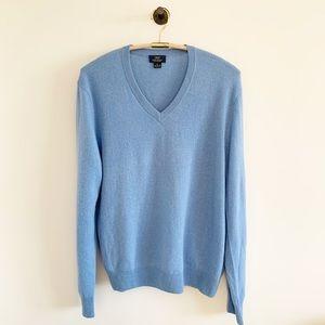 346 brooks brothers cashmere blue v neck sweater